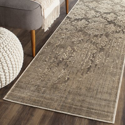 Valmer Mouse Oriental Gray Area Rug Rug Size: Runner 22 x 8