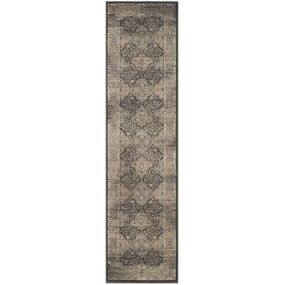 Mainville Black Area Rug Rug Size: Runner 22 x 8