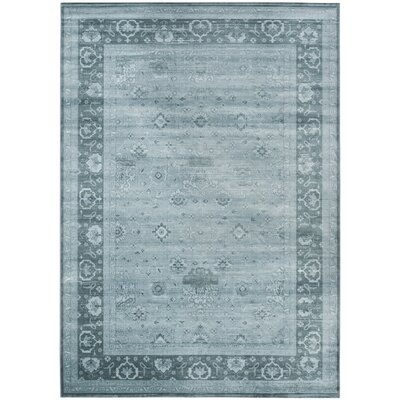 Makenna Light Blue Area Rug Rug Size: Rectangle 8 x 11