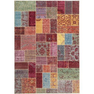 Thanh Red/Pink Area Rug Rug Size: Runner 23 x 8