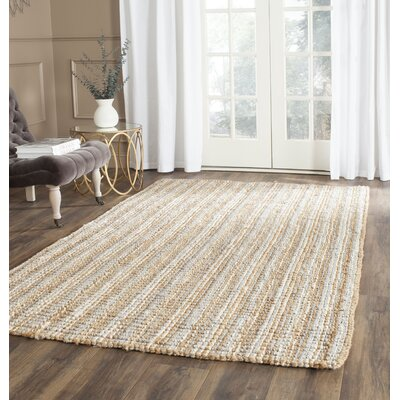 Richmond Hand-Woven Gray/Natural Area Rug Rug Size: Rectangle 26 x 4