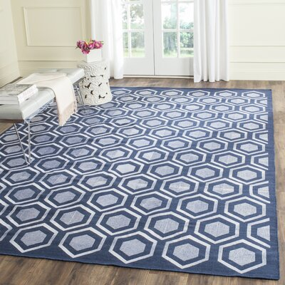 Barrier Navy Area Rug Rug Size: 5 x 8