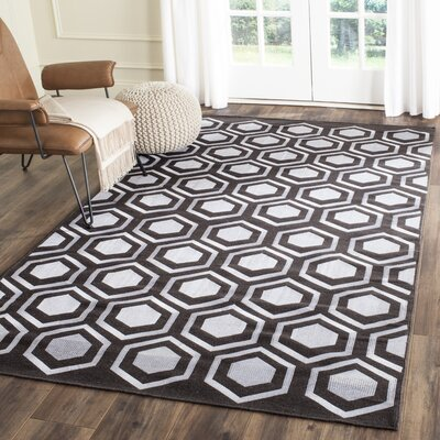 Barrier Hand-Woven Charcoal Area Rug Rug Size: Rectangle 5 x 8