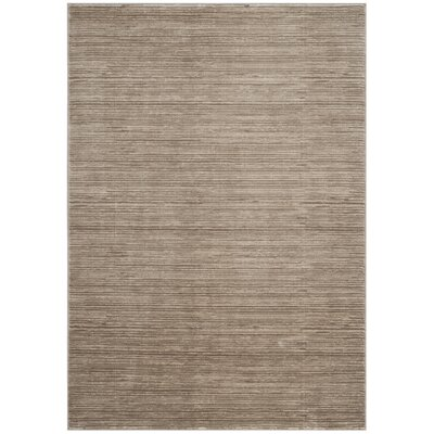 Harloe Solid Light Brown Area Rug Rug Size: Rectangle 3 x 5