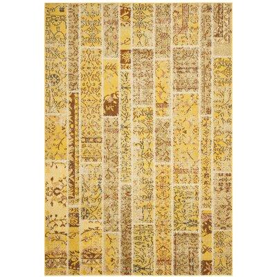 Yellow Area Rug Rug Size: 67 x 92