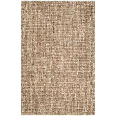 Natural Fiber Brown Area Rug Rug Size: 4 x 6