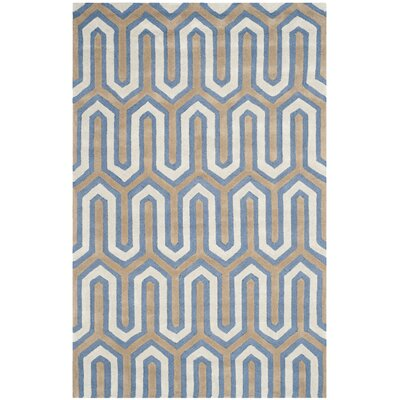 Martins Hand-Tufted Navy/Gray Area Rug Rug Size: Rectangle 8 x 10