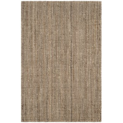 Svetlana Hand-Woven Natural/Grey Area Rug Rug Size: Rectangle 6 x 9