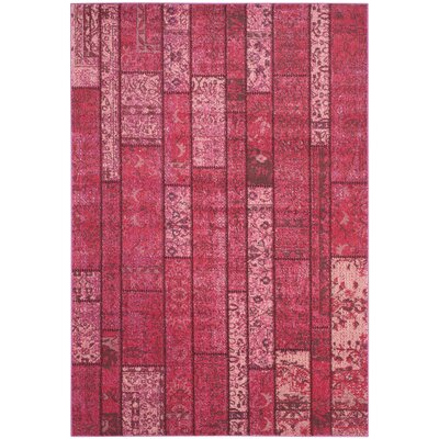 Pink Area Rug Rug Size: Rectangle 67 x 92