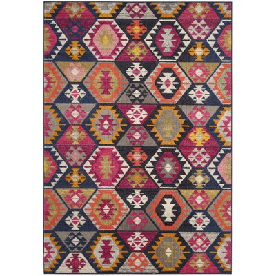 Haywood Yellow/Pink Area Rug Rug Size: Rectangle 4 x 57