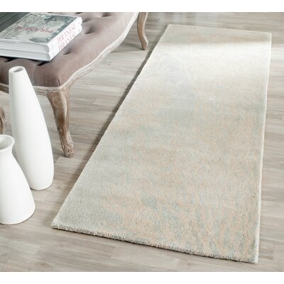 Juniper Hand-Tufted Wool Beige/Gray Tribal Area Rug Rug Size: Runner 23 x 9