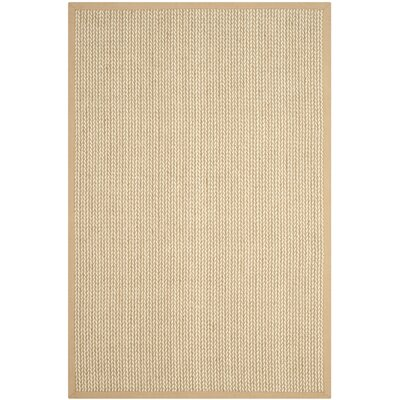 Hand-Woven Beige Area Rug Rug Size: Rectangle 9 x 12