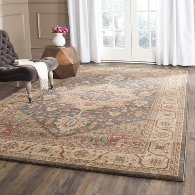 Alto Navy/Natural Area Rug Rug Size: Rectangle 9 x 12