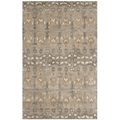Carpenter Wool Brown Area Rug Rug Size: Rectangle 6 x 9