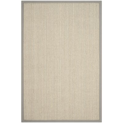 Hand-Woven Gray Area Rug Rug Size: Rectangle 6 x 9