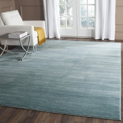 Harloe Aqua Area Rug Rug Size: Rectangle 8 x 10