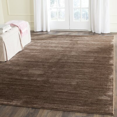 Harloe Brown Area Rug Rug Size: Rectangle 9 x 12