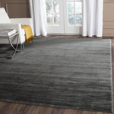 Harloe Solid Gray Area Rug Rug Size: Rectangle 51 x 76
