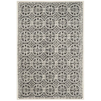 Fairburn Black/Ivory Area Rug Rug Size: Rectangle 6 x 9
