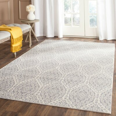 January Gray/Cream Area Rug Rug Size: Rectangle 9 x 12