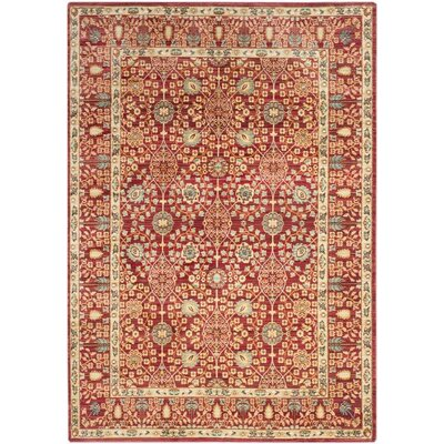 Regis Red Area Rug Rug Size: 4 x 6