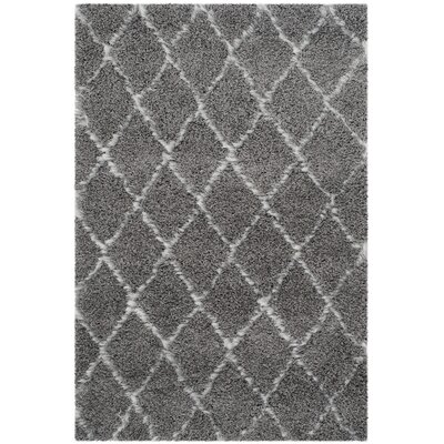 Armstead Geometric Contemporary Gray/Ivory Area Rug Rug Size: Rectangle 4 x 6