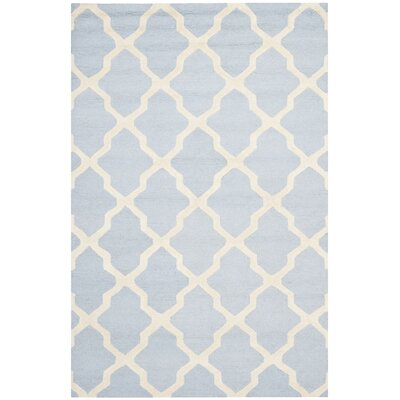 Sugar Pine Hand-Tufted Wool Blue/Ivory Area Rug Rug Size: Rectangle 5 x 8