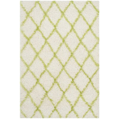 Armstead Ivory/Green Area Rug Rug Size: 4 x 6