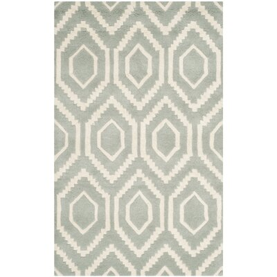 Wilkin Hand-Tufted Gray/Ivory Area Rug Rug Size: Rectangle 89 x 12