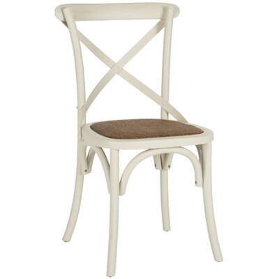 Essie Upholstered Dining Chair Color: Distressed Ivory