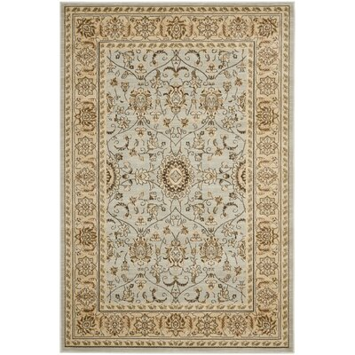 Lavelle Grey/Ivory Area Rug Rug Size: Square 5