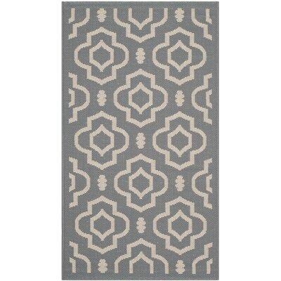 Octavius Anthracite/Beige Indoor/Outdoor Area Rug Rug Size: Rectangle 27 x 5