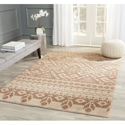 St. Ann Highlands Camel/Chocolate Area Rug Rug Size: Rectangle 51 x 76
