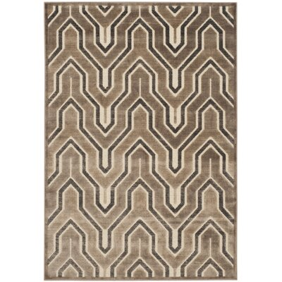 Ery Camel/Cream Area Rug Rug Size: Rectangle 4 x 57