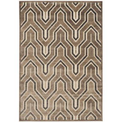 Ery Camel/Cream Area Rug Rug Size: Rectangle 27 x 4