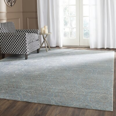 Longeville Gray/Baby Blue Area Rug Rug Size: 8 x 10