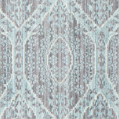Longeville Gray/Baby Blue Area Rug Rug Size: Rectangle 9 x 12