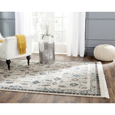 Cherise Cream Area Rug� Rug Size: Rectangle 51 x 76