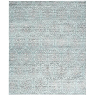 Longeville Gray/Baby Blue Area Rug Rug Size: Rectangle 8 x 10