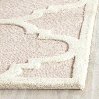 Charlenne Trellis Light Pink & Ivory Area Rug Rug Size: 2 x 3