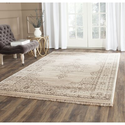 Balon Cream/Gold Area Rug Rug Size: Rectangle 33 x 53