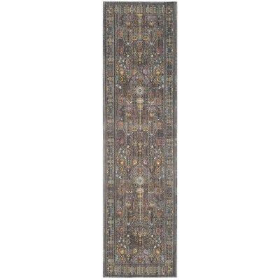 Bernardyn Gray/Multi Area Rug Rug Size: Runner 23 x 8