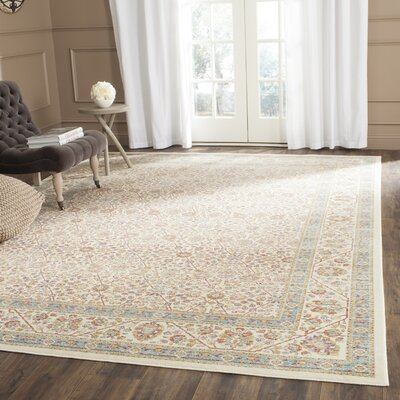 Belhaven Ivory Area Rug Rug Size: Rectangle 53 x 76