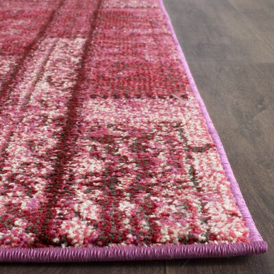 Pink Area Rug Rug Size: Rectangle 3 x 5