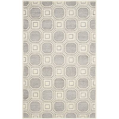 Precious Hand-Tufted Gray/Ivory Area Rug Rug Size: Rectangle 89 x 12