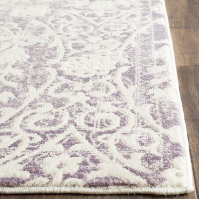 Auguste Lavander/Ivory Area Rug Rug Size: Rectangle 9 x 12