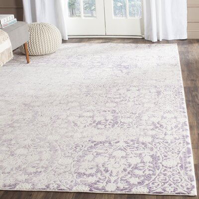 Auguste Lavander/Ivory Area Rug Rug Size: Rectangle 4 x 57