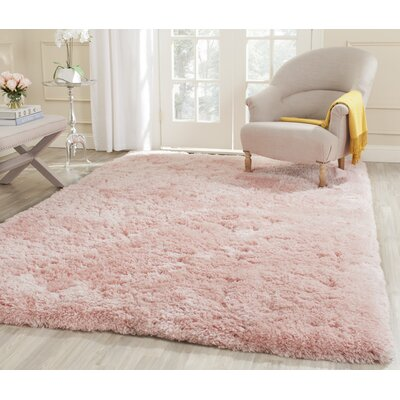 Dax Shag Hand-Tufted Pink Area Rug Rug Size: Rectangle 7 x 10