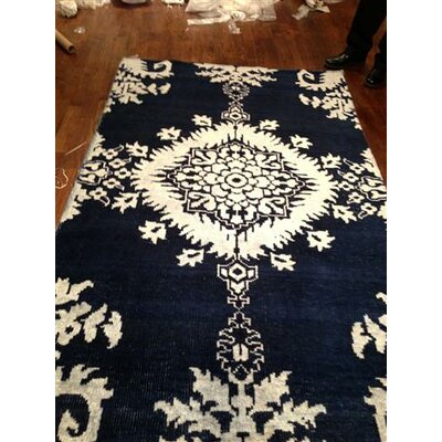 Moulouya Hand-Knotted Indigo Area Rug Rug Size: 3 x 5