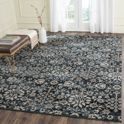 Zennia Turquoise/Cream Area Rug Rug Size: Rectangle 51 x 76